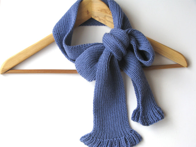 violet knit wool scarf by tricotaria