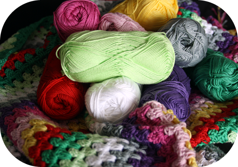 Crochet granny stripe WIP