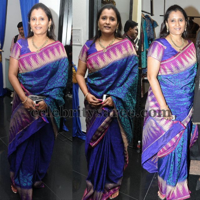 Celebrity Banaras Temple Border Saree