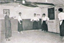 Kenshiro Abbe teaching at the `Hut Dojo` 1959