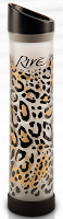 Style Athletics Holiday Gift Guide for Athletes Athletic Girls Rive Glass Water Bottle Reusable Leopard Cheetah