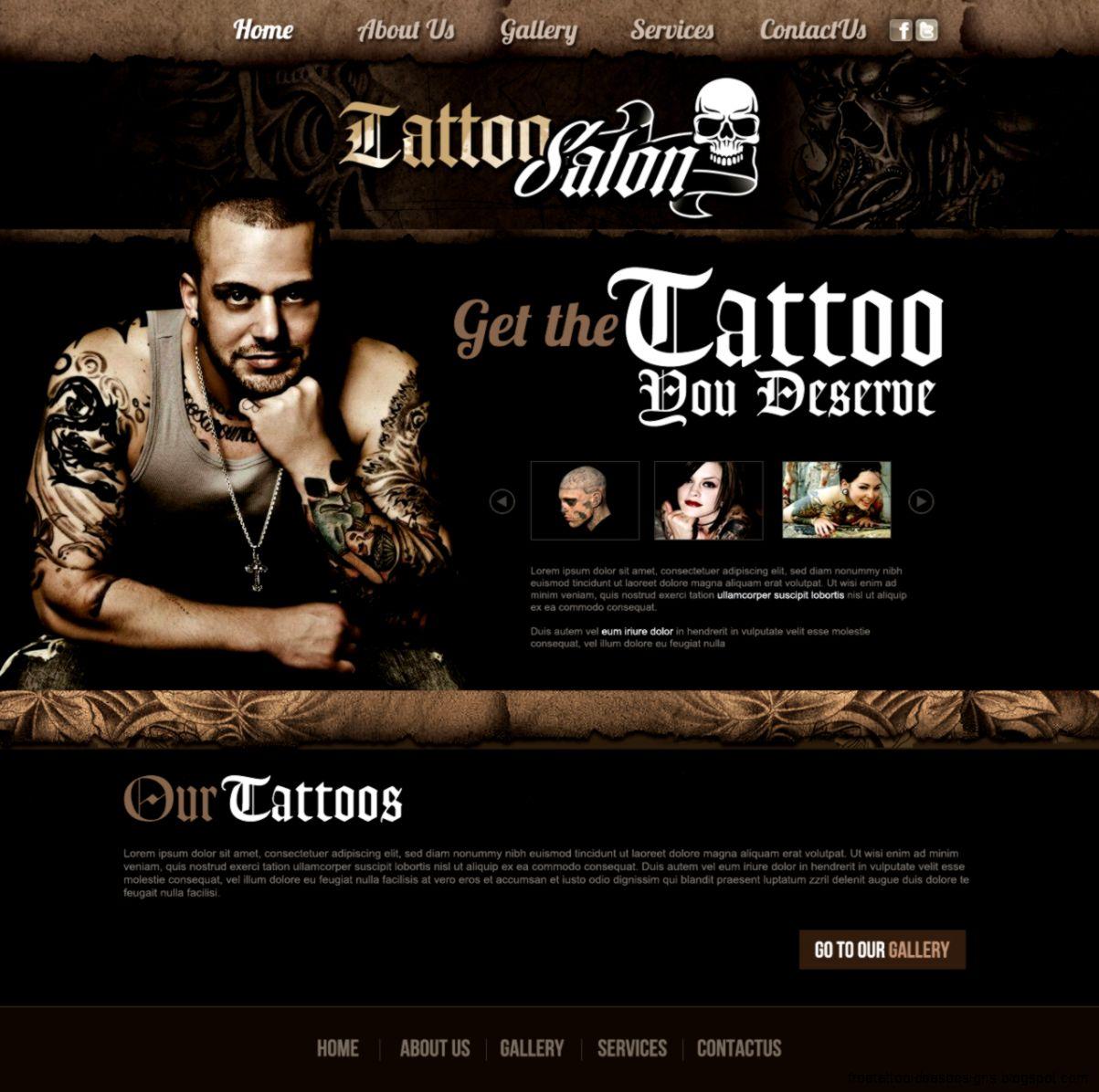tattoo websites - Template
