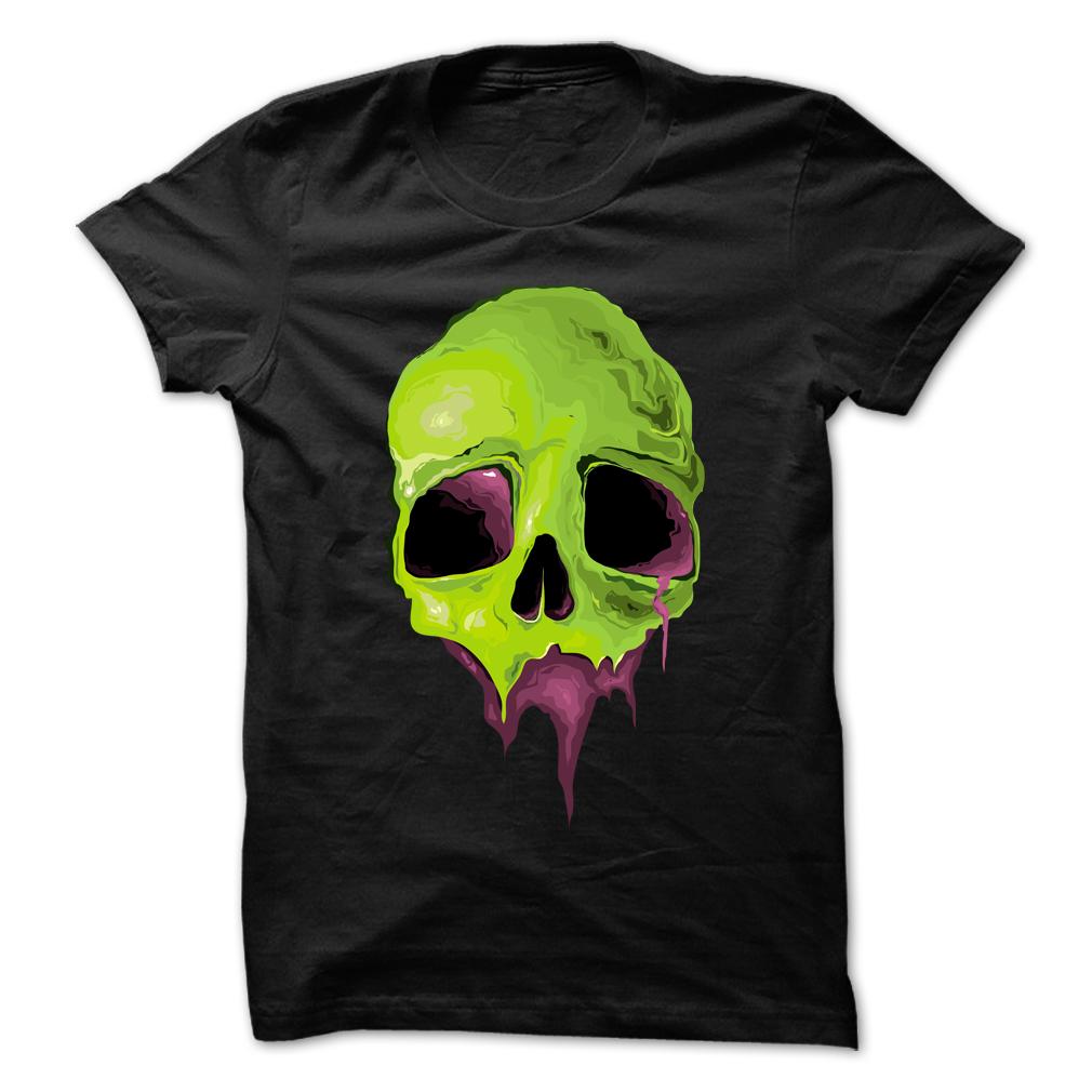 Funny Halloween Skull T Shirt