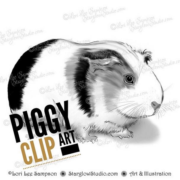 Starglow Studio Piggy Clip Art