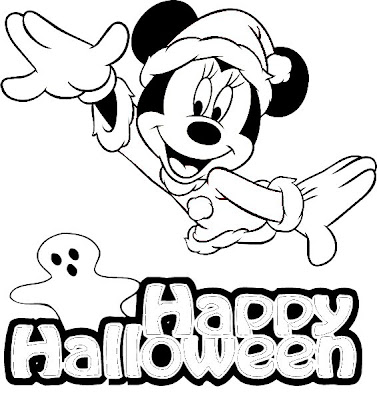 Top 10 disney halloween coloring pages for Minnie mouse halloween coloring pages