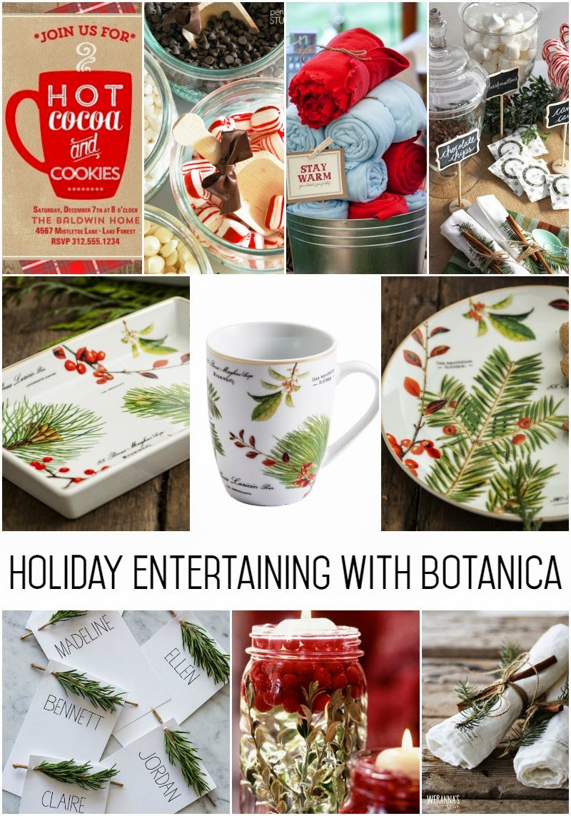 Holiday entertaining with the Rosanna Botanica Collection inspiration board