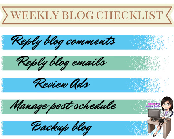 Weekly Blog Checklist
