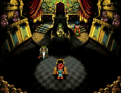 Crono stands trial for the abduction of Princess Nadia in 1000 AD
