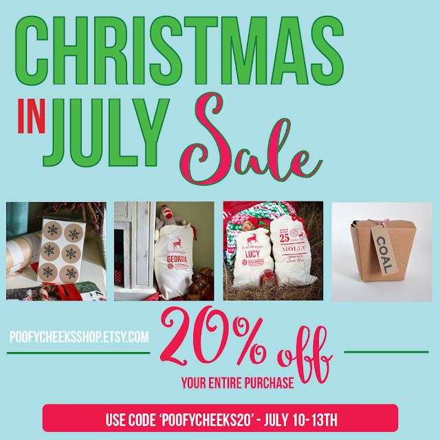 Poofy Cheeks Shop Santa Sack Bags - Christmas in July Sale