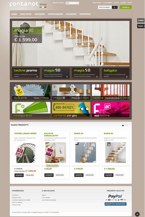 Arscity fontanot shop come comprare una scala per la for Comprare casa online