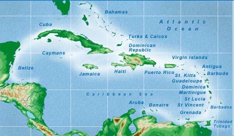 Caribbean Sea Map