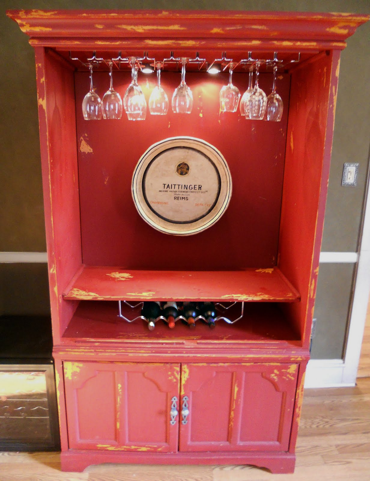 add some country repurposing an old entertainment center - repurposing an old entertainment center