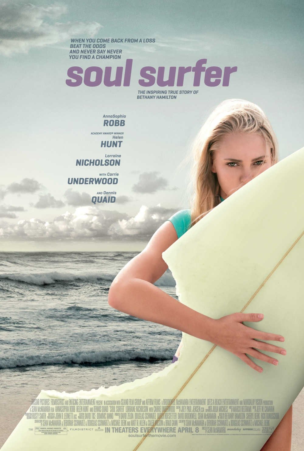 soul surfer Soul surfer 1,363,882 likes 920 talking about this now available on blu-ray + dvd combo pack and dvd.