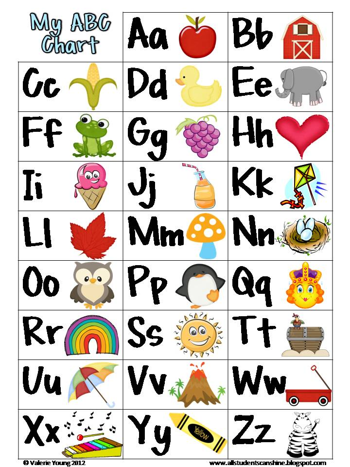 Playful image throughout abc chart printable