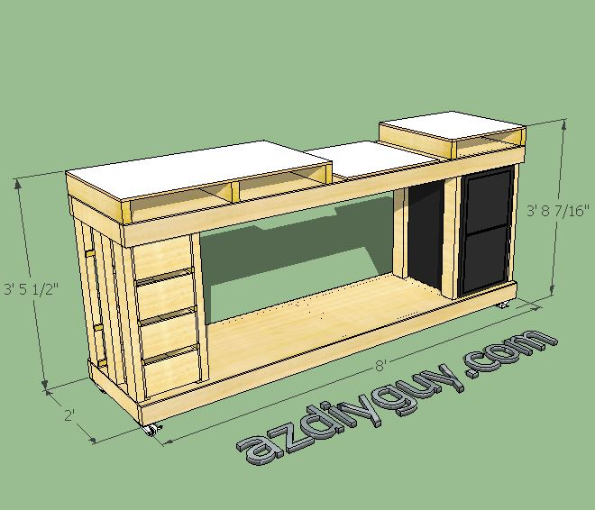 Az Diy Guy S Projects Building A Miter Saw Bench