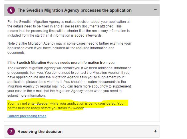 sweden visa processing time