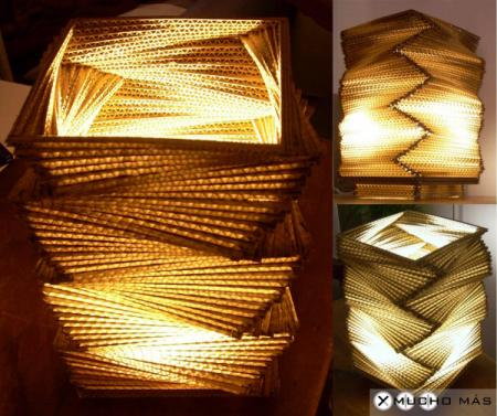 lamparas de carton make it retro cardboard furniture