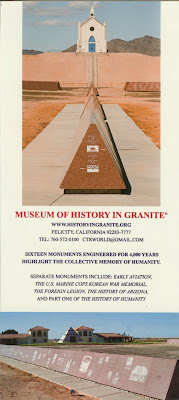 Brochure for the Museum of History in Granite