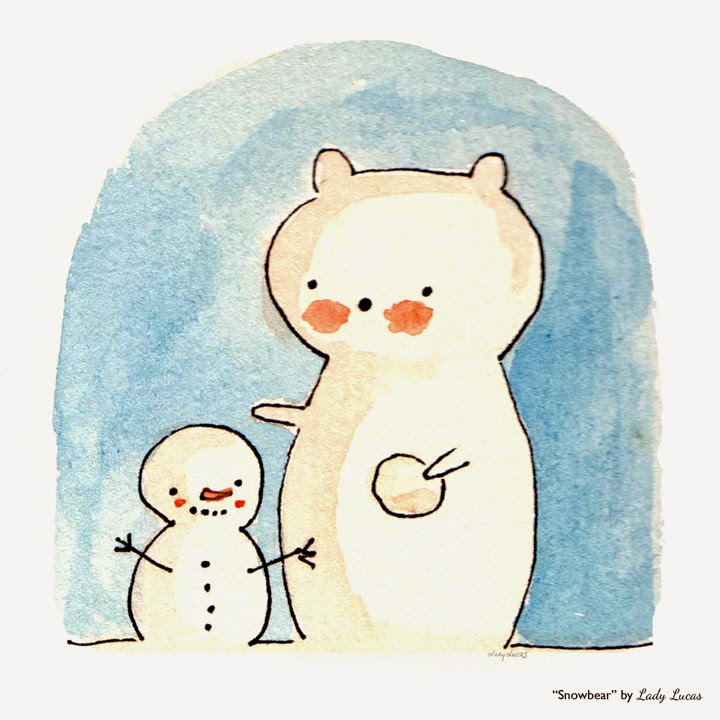 Snowbear by Lady Lucas - #25DaysofSnowmen