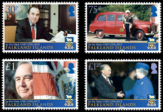 Falkland Islands – Sir Rex Hunt - www.pobjoystamps.com