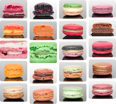 Les differents parfums de macaron