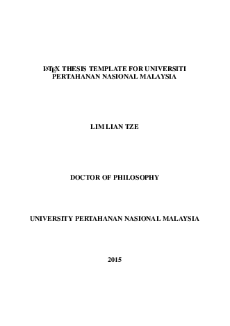 Latex document class for phd thesis