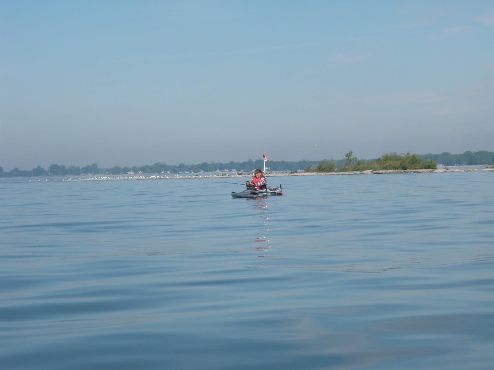 Kayaker67adventures lake erie fishing for Lake erie fishing