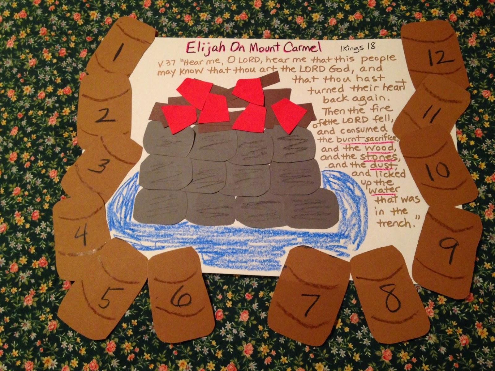 children 39 s bible lessons lesson elijah at mount carmel. Black Bedroom Furniture Sets. Home Design Ideas