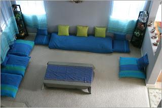 แบบห้องรับแขกนั่งพื้น
