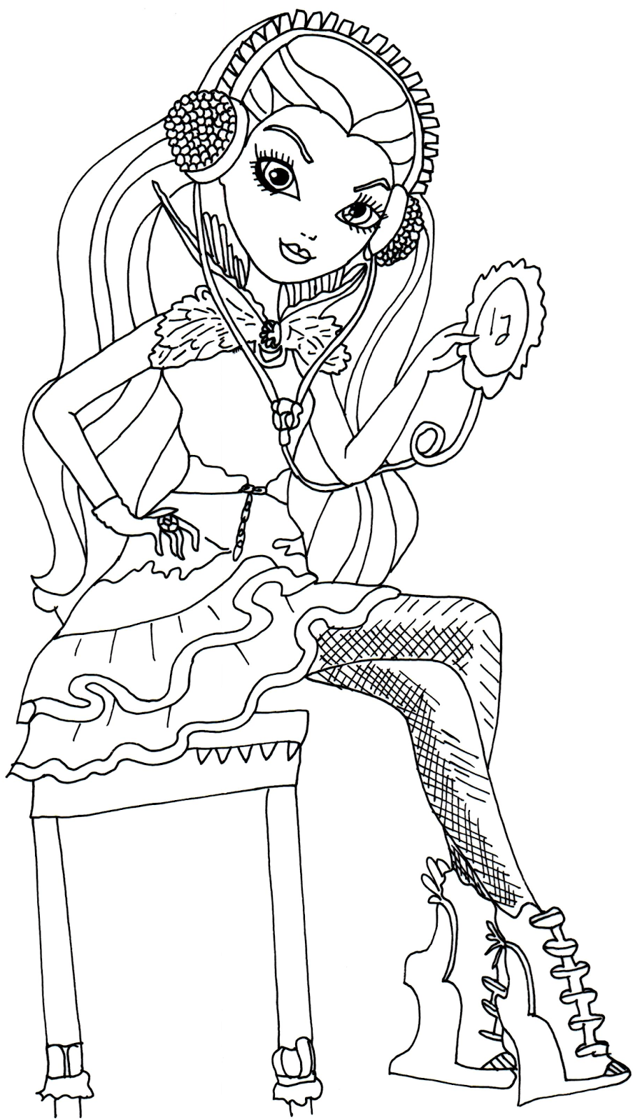 Free printable ever after high coloring pages december 2013 for Raven coloring pages