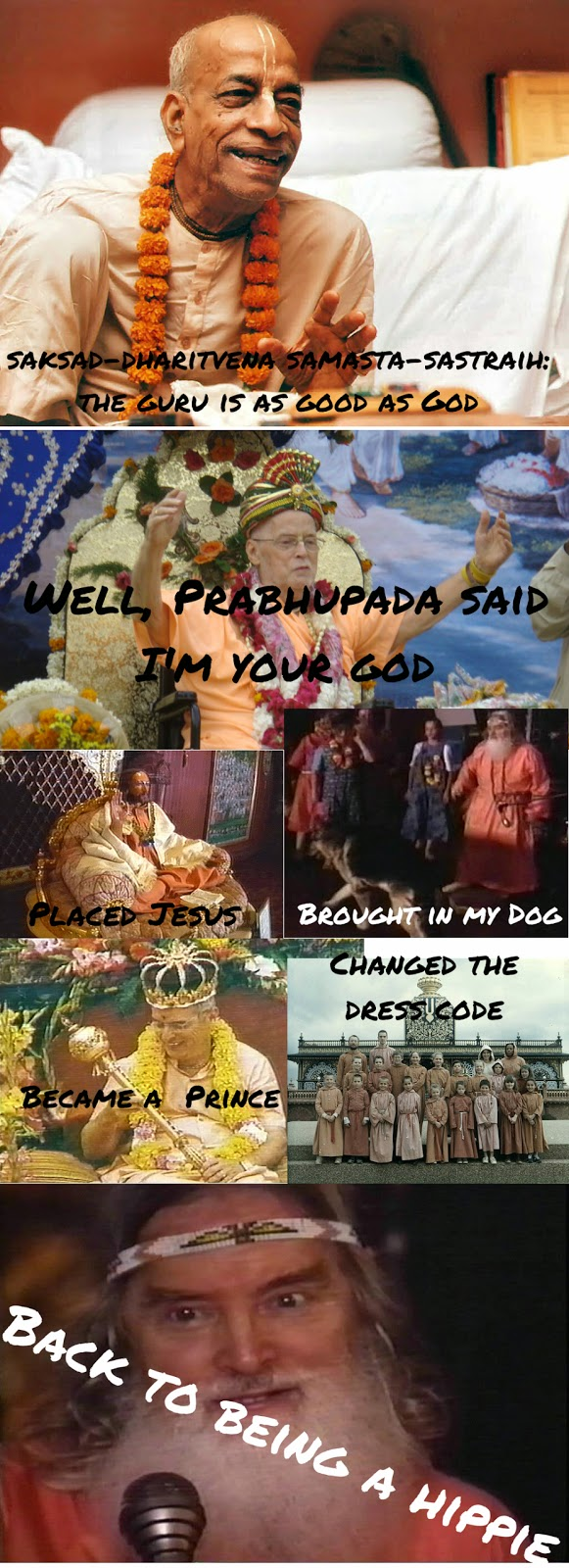 Prabhupada and Kirtanananda Swami memes