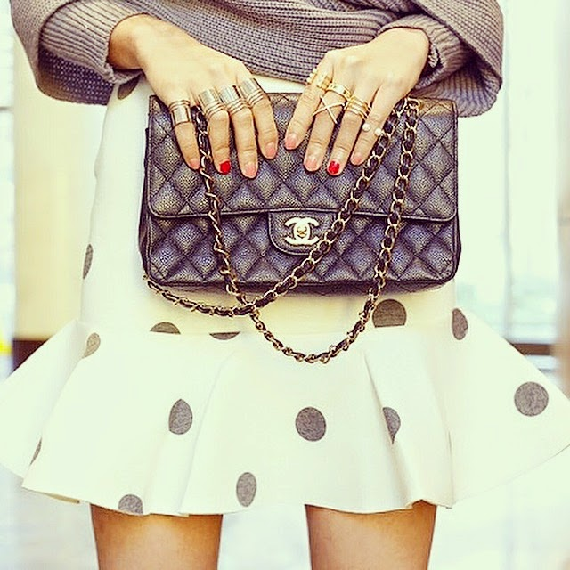 Romwe sweater, shop joa polkadot skirt, baublebar rings, jewelry, ring stack, fashion blog, shallwesasa