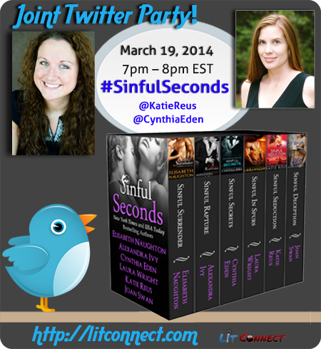http://events.litconnect.com/joint-twitter-party-sinful-seconds-boxed-set-w-katie-reus-cynthia-eden/