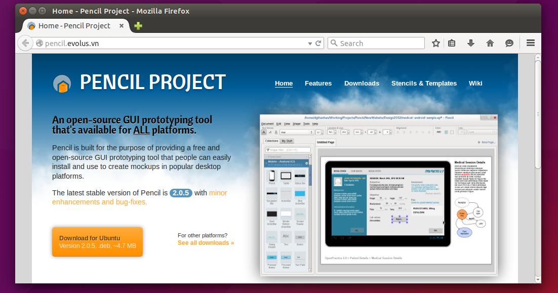 How To Install Evolus Pencil in Ubuntu 15.04