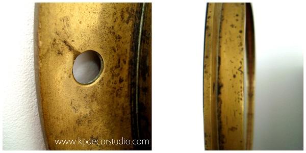Espejos de barco escotillas antiguas de bronce y latón