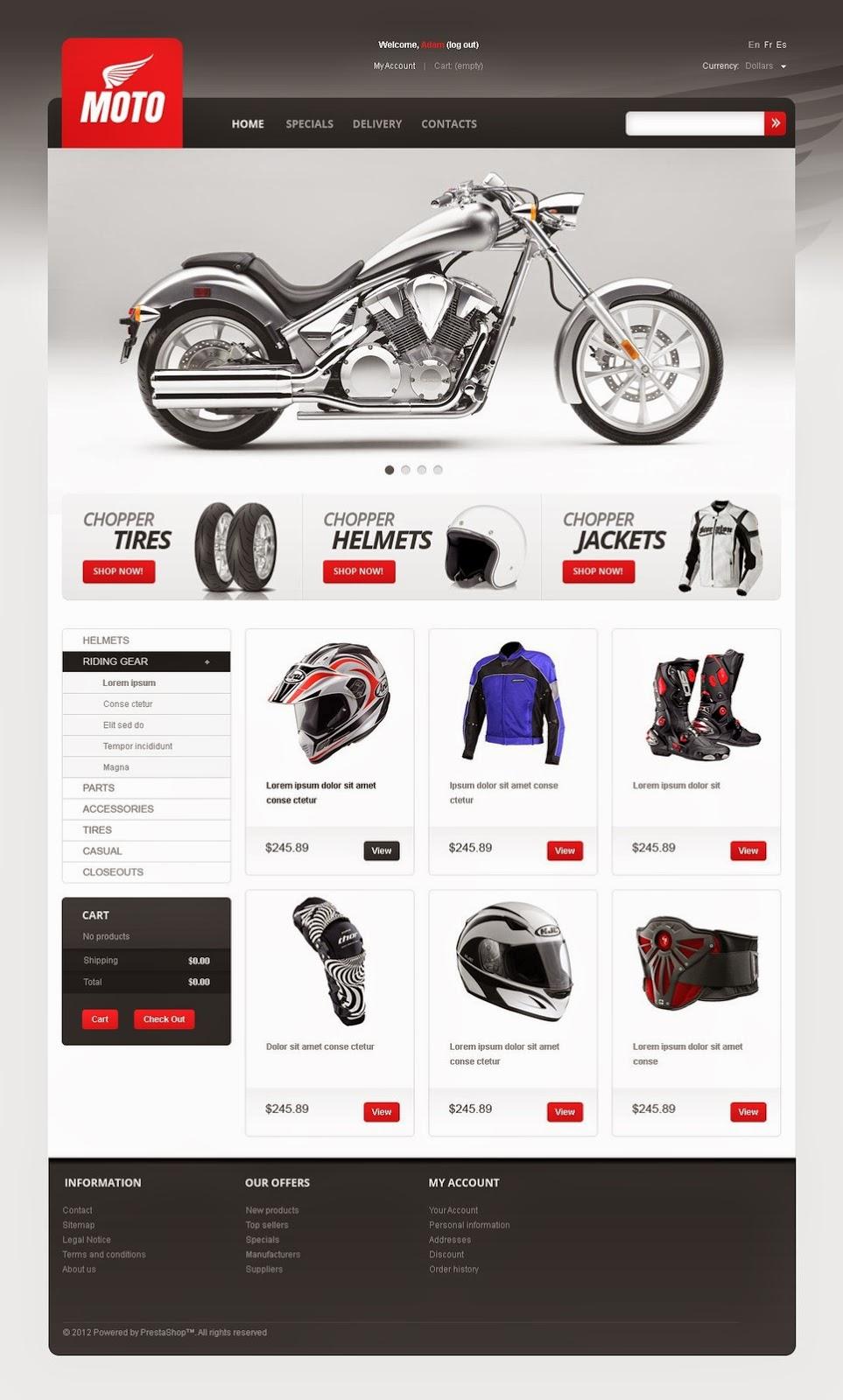 thiết kế web bán hàng xe máy