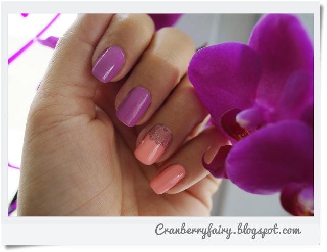 łososiowe paznokcie
