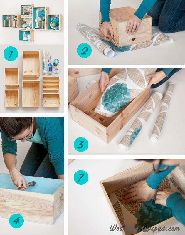 El paso a paso para forrar un mueble con papel pintado - Restaurar mueble madera ...