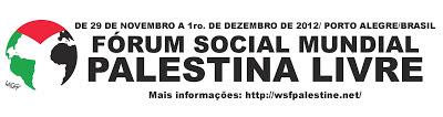 Banner - Fórum Social Mundial Palestina Livre