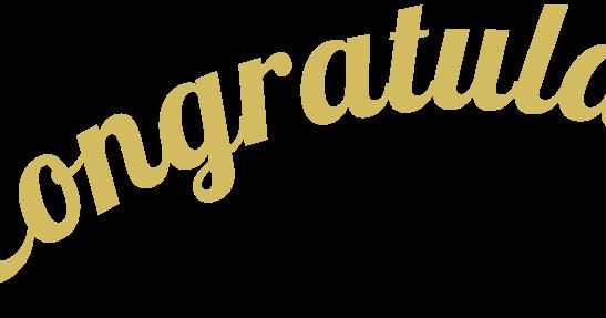 congrats graphic