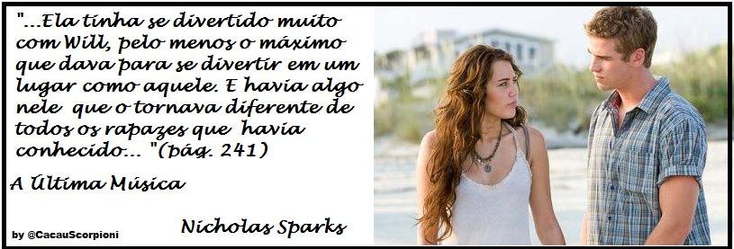 Tudo Bem Junto E Misturado A última Música Nicholas Sparks