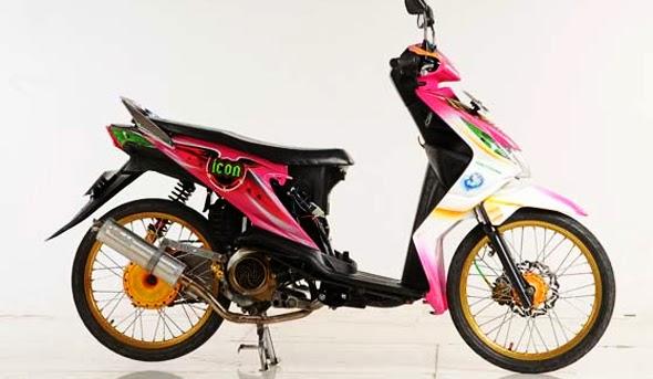 Honda Beat Modifikasi Velg Jari-jari Ring 17 Keren Kumpulan Foto dan Gambar