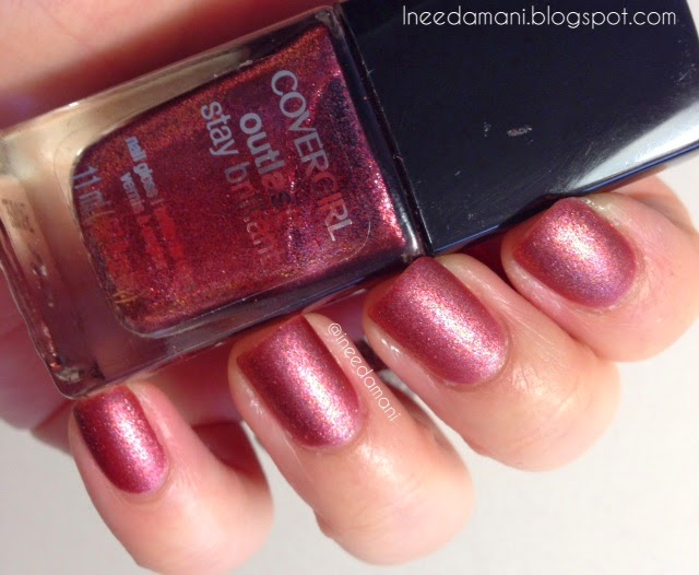 Cover Girl Outlast Timeless Rubies with Nicole O.P.I Matte Top Coat nails