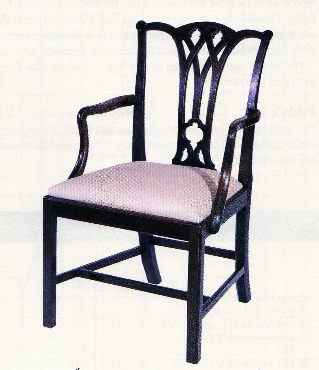 gothic chippendale chair the back legs