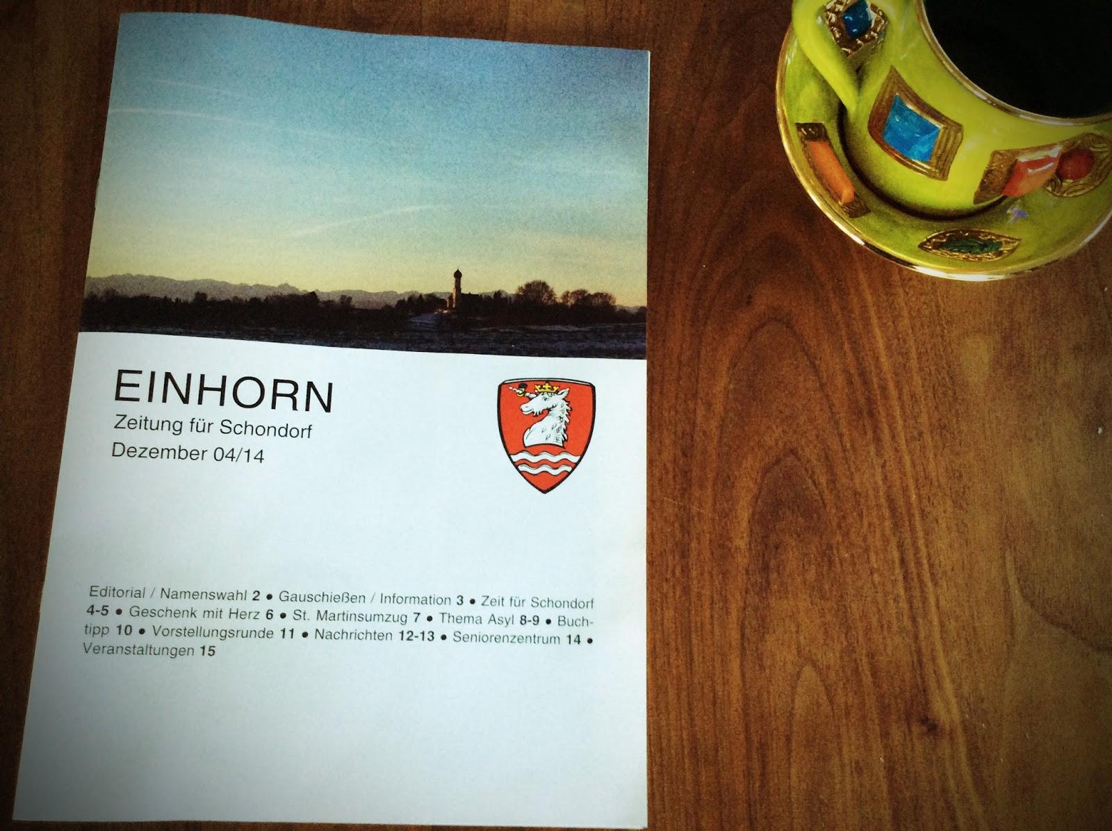 Einhorn – Die Schondorfer Gemeindezeitung