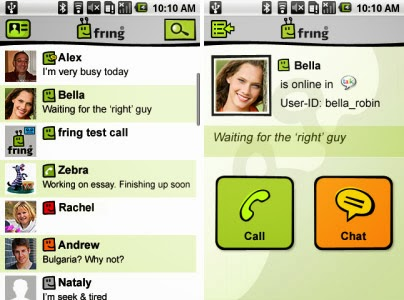 fring,best android apps free calls