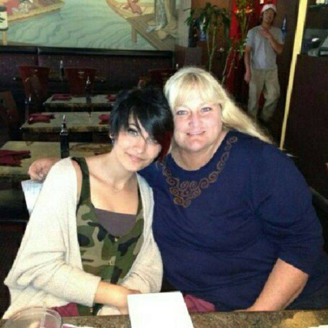 Paris Jackson with her Mom.