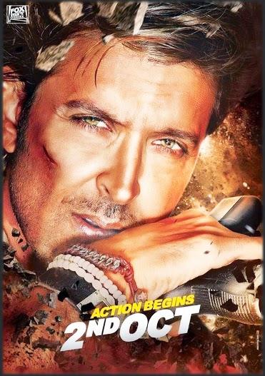 Bang Bang (2014) Hindi Movie First Look Poster Hrithik-Katrina