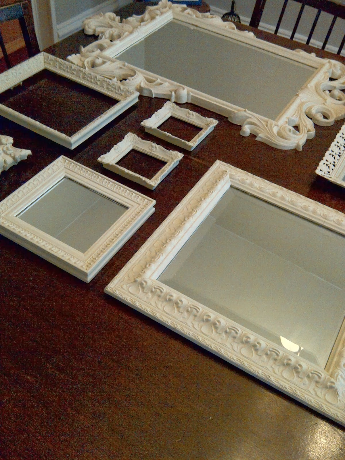 Brick Home Love Mirror And Picture Frame Gallery Wall