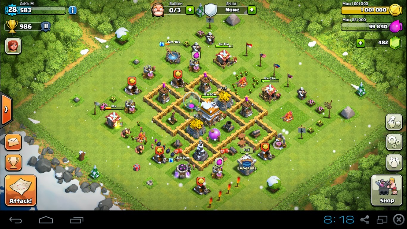 Clash of clans bases town hall level 5